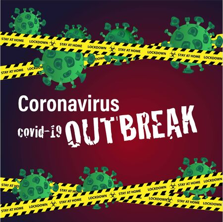 Lockdown,stay home and social distancing campaign to break the chains of coronavirus outbreak
