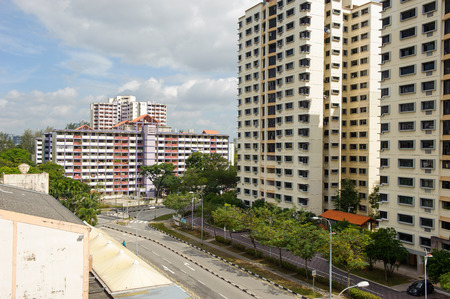 public housing: New and old Singapore public housing (HDB)