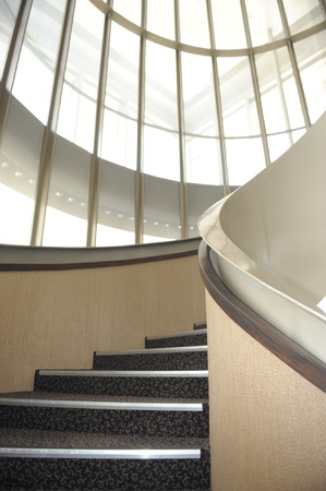 spiral staircase: View of the spiral staircase at Victoria Concert Hall, Singapore Editorial