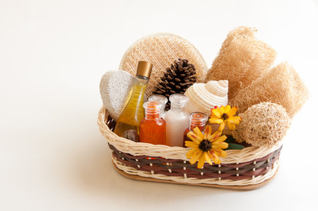 exfoliation: Spa accessories for massage and exfoliation