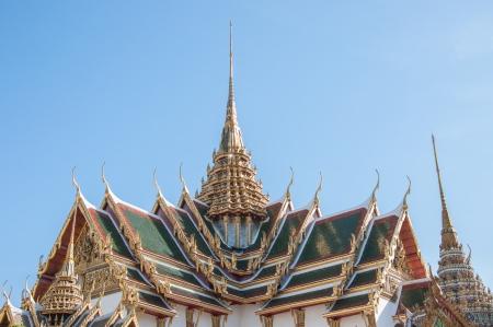 ornately: Detail of ornately decorated temple Stock Photo