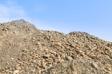 stone sand heap photo
