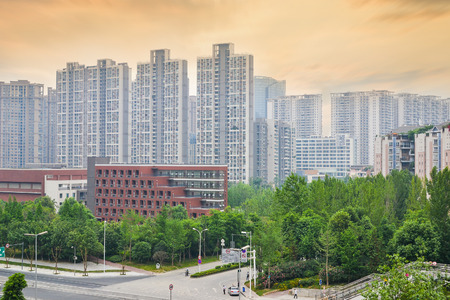 residence: modern residence at chengdu,china