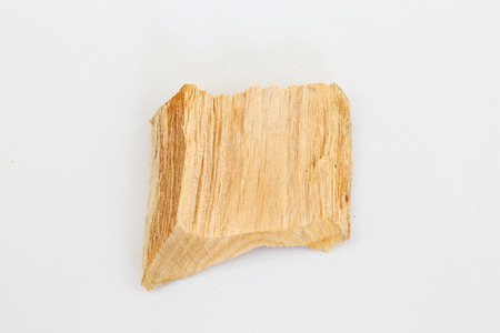 Wood residues on white photo