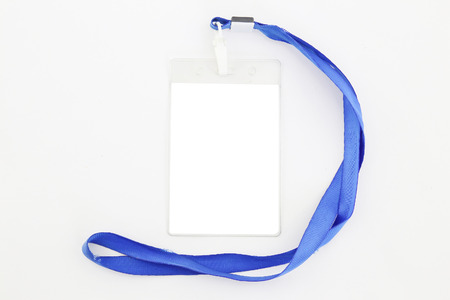 Identification card on white photo