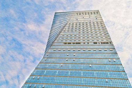 buliding: office buliding with blue sky