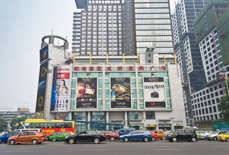 Digital square of chengdu,china.It is the biggest digital equipment marketplace at west of china.Photo is taken on 7th May 2011.