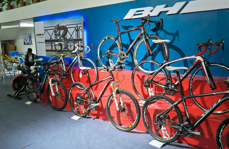 inddor: bicycle on the china sports show 2011 at chengdu,china.Photo is taken on 14 May 2011.