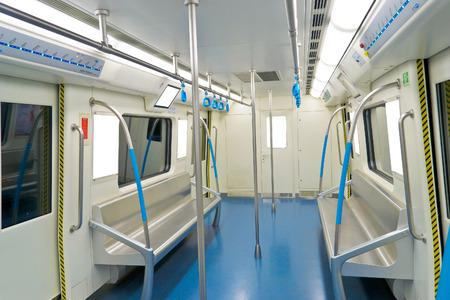 interior view of metro of No.1 subway of chengdu,china.Photo is taken on 3 Jun 2011.