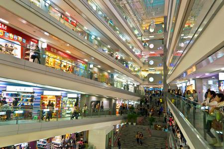 modern shopping mall at chengdu, china.Photo is taken on 19 Nov 2011.