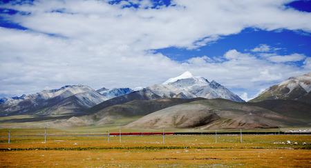 チベット、中国の鉄道 写真素材