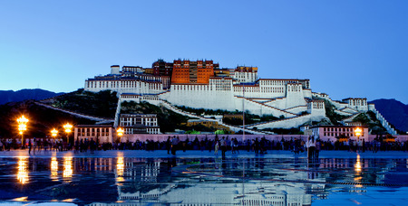dalai: Palata Palace at tibet of china Stock Photo