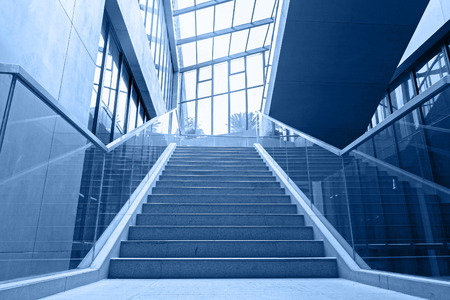 stairs interior: empty office stairs Editorial