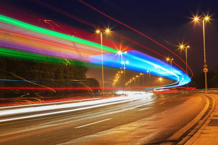 motion: traffic in city on bridge