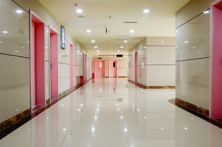 hospital corridor: hospital interior