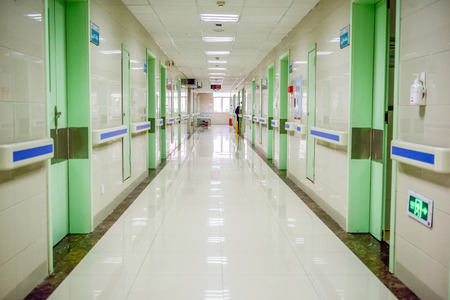hospital interior: hospital aisle Editorial