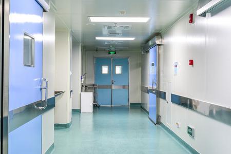 exit: corridor in hospital