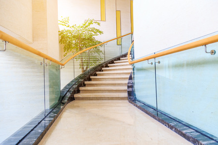 stairs interior: stairs in hotel Editorial