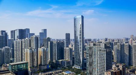china business: CHENGDU,CHINA - May 2,2015:city panorama of chengdu,china.One of the fastest growing city at west of china.