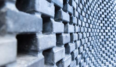 curve: brick wall curve Stock Photo