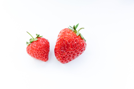 strawberry on white background Banco de Imagens