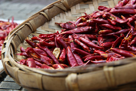 drying: Drying chili peppers
