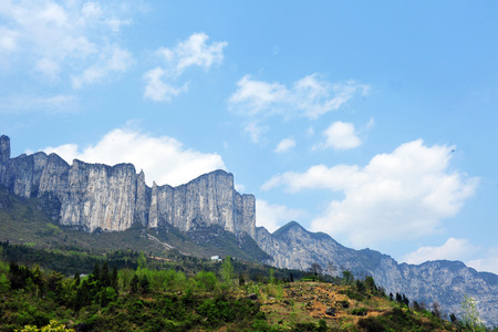 hubei province: Enshi City, Hubei Grand Canyon scenery Stock Photo