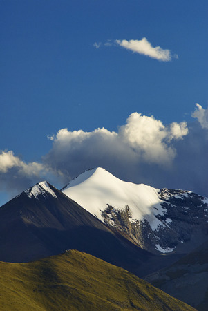 snow capped: The snow capped mountains Stock Photo