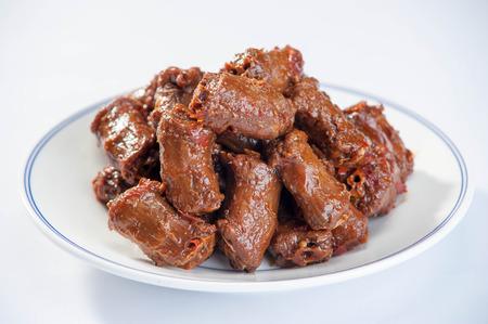 Spicy Duck Neck cuisine Stock Photo