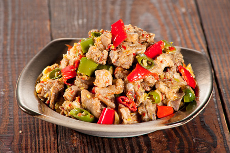 giblets: Spicy chicken giblets
