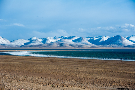 Namtso Lake view Stock Photo