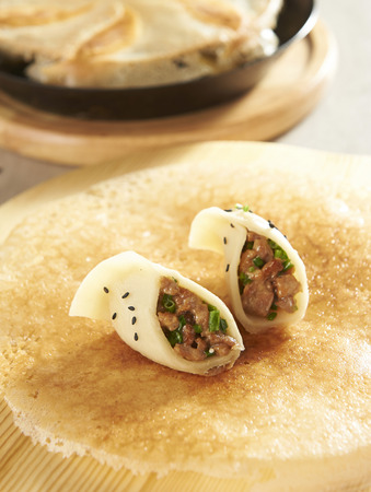 potstickers: Chinese potstickers Stock Photo