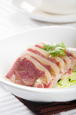 trotter: Pork Trotter Aspic Jiangsu Style Stock Photo
