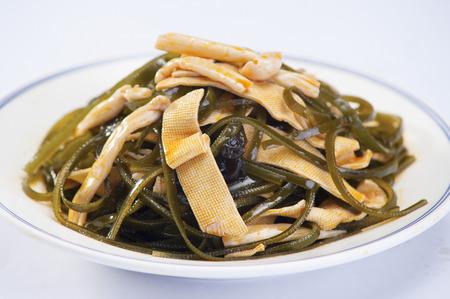 beancurd: Kelp silk Stock Photo