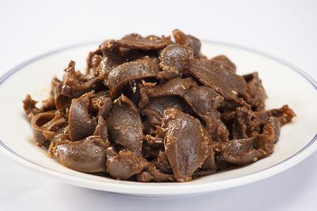 gizzard: Braised ducks gizzard Stock Photo