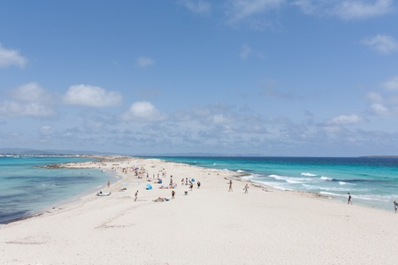 formentera: Ses illetes beach in Formentera.  Stock Photo