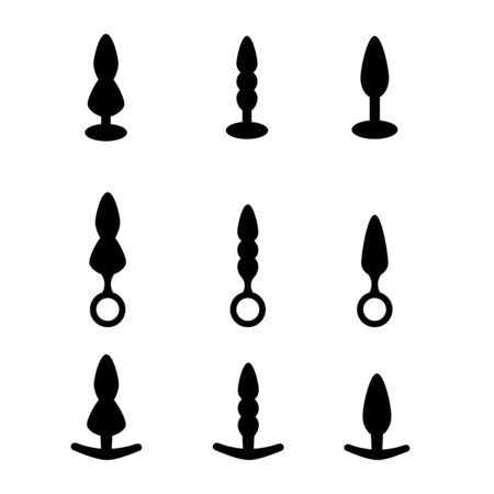 Adult Anal Sex Toys Set. Various anal sex toys anus butt plugs.