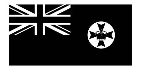 Flag of Queensland Qld State Australia. Queensland State Flag Australia. Black and white EPS Vector File.