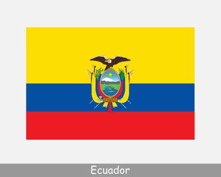 National Flag of Ecuador. Ecuadorian Country Flag. Republic of Ecuador Detailed Banner. EPS Vector Illustration File Vector Illustration