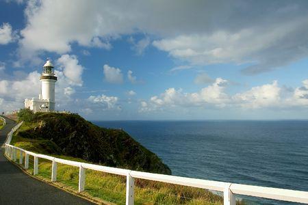 byron: Byron bay Lightouse, Australia Stock Photo