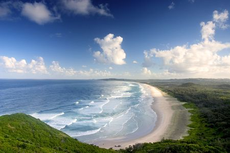 View from the top of Byron Bay, Australia photo