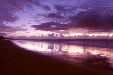 Beautiful Sunrise at Noosa beach photo