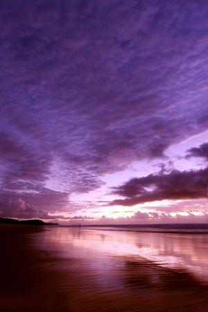 composure: Sunrise at Noosa beach, Australia Stock Photo
