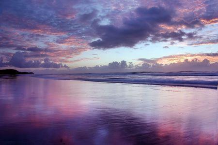 Beautiful sunrise at Noosa photo