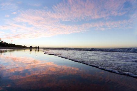 composure: Durante il tramonto a Noosa, in Australia