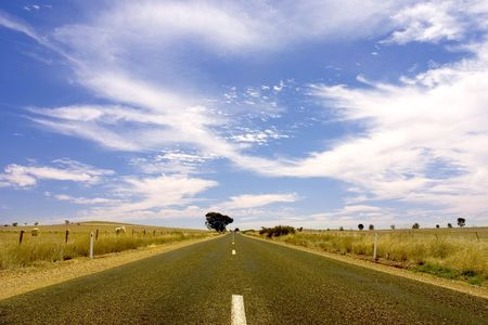 ranges: Paese strada a Flinders Ranges, South Australia  Archivio Fotografico