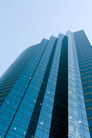 premise: Corporate building with blue sky Stock Photo