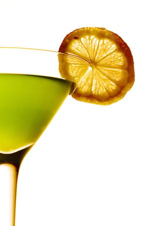 cocktail fruit: Coctail sobre fondo blanco