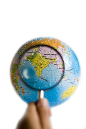 Looking at India through magnifying glasses photo