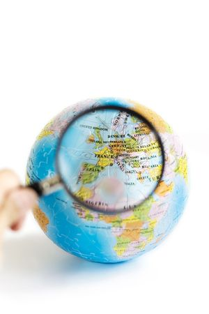 Exploring Europe through magnifying glasses photo